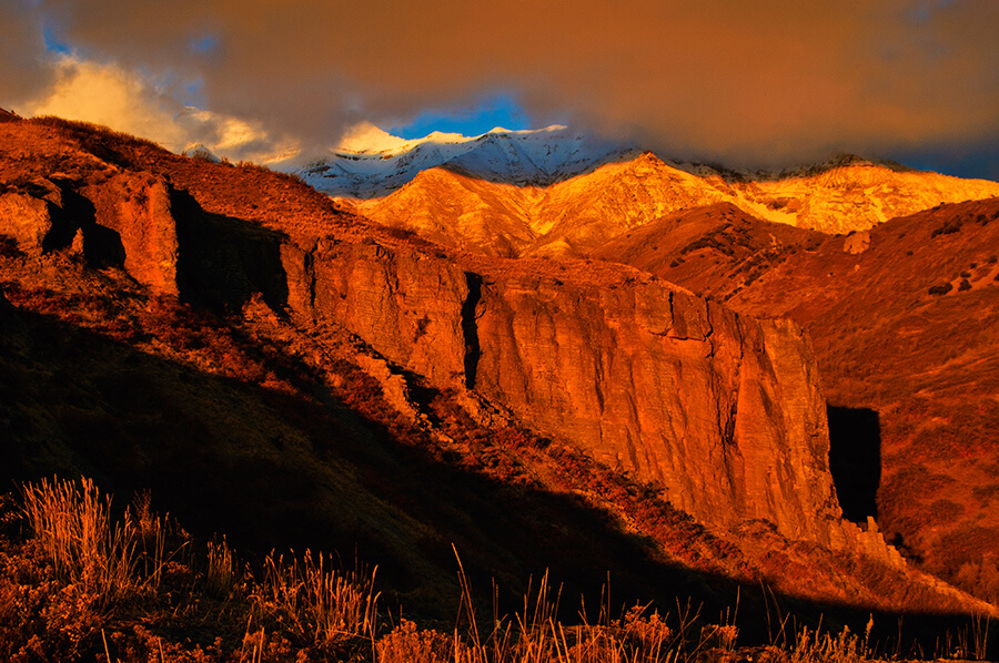 Shadows on the Mountain - 20 x 30 giclée on canvas (unmounted) by Tanner Young