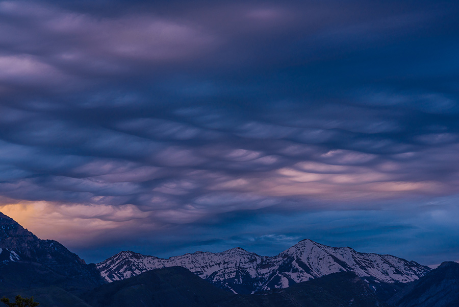 Asperitas Clouds at Dawn, I - 8 x 12 giclée on canvas (pre-mounted) by Tanner Young