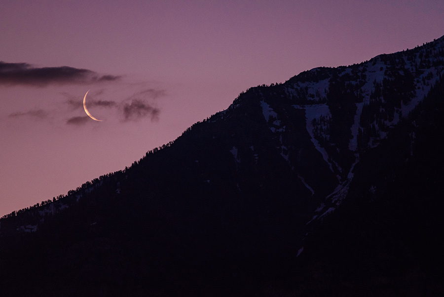 Crescent Moonrise, I - 24 x 36 lustre print by Tanner Young