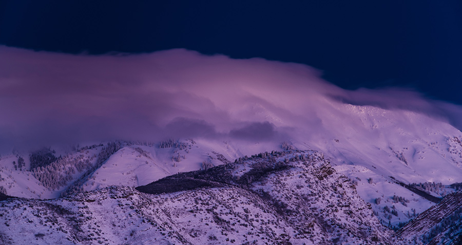 Alpine Dusk - 24 x 36 giclée on canvas (unmounted) by Tanner Young