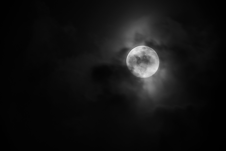 Moon through the Clouds, III - 24 x 36 giclée on canvas (unmounted) by Tanner Young