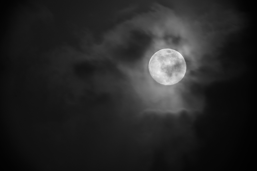 Moon through the Clouds, IV - 24 x 36 giclée on canvas (unmounted) by Tanner Young