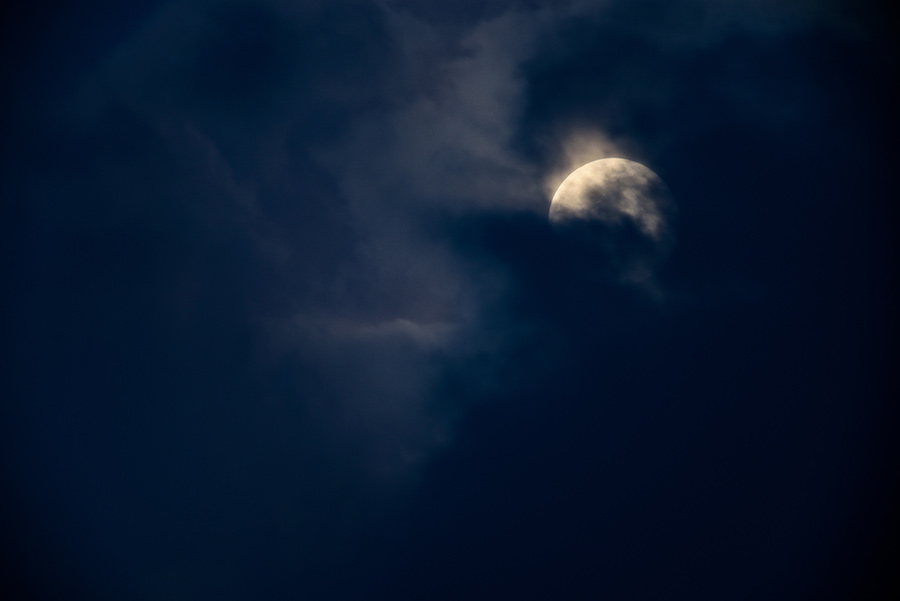 Moon through the Clouds, V - 24 x 36 giclée on canvas (unmounted) by Tanner Young