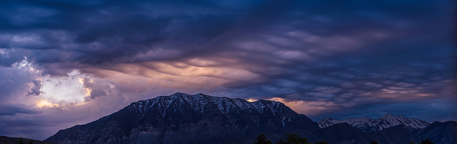 Asperitas Clouds - 30 x 95 giclée on canvas (unmounted) by Tanner Young