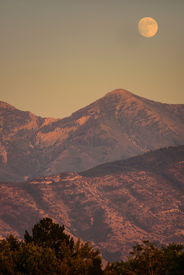 Moon above the Summit - 40 x 60 lustre print by Tanner Young