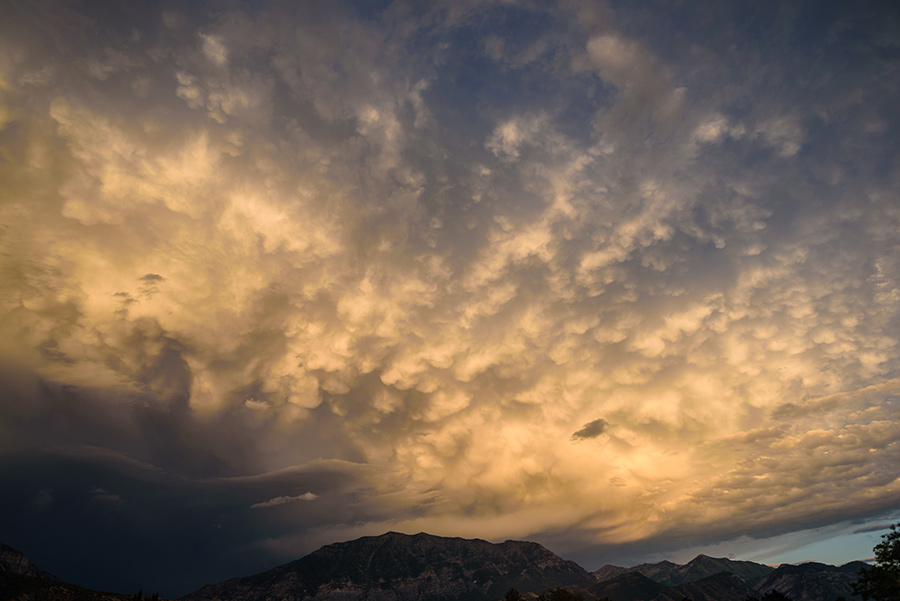 Mammatus Clouds, VI - 40 x 60 giclée on canvas (unmounted) by Tanner Young