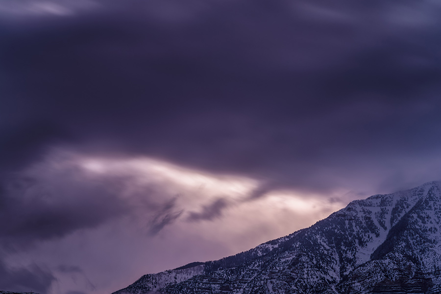 Dawn Behind the Clouds - 20 x 30 giclée on canvas (unmounted) by Tanner Young