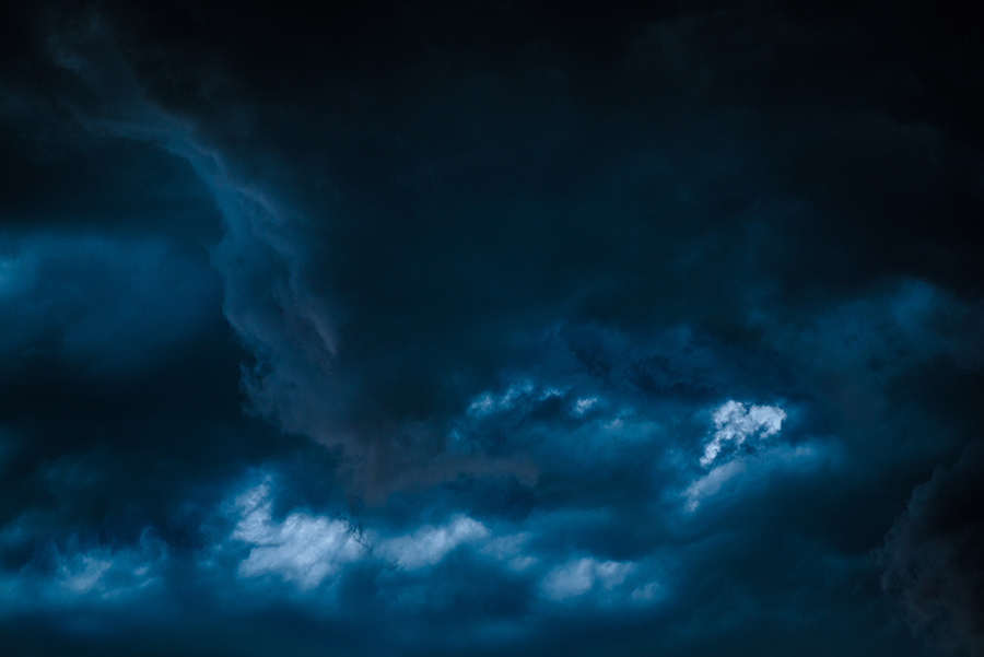 Dark Clouds - 20 x 30 giclée on canvas (unmounted) by Tanner Young