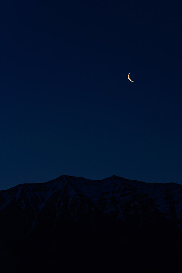 Venus and the Crescent Moon - 30 x 40 lustre print by Tanner Young