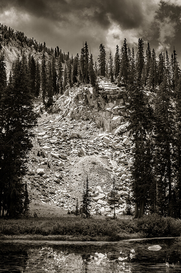 Beyond the Mountain Lake - 24 x 36 giclée on canvas (unmounted) by Tanner Young