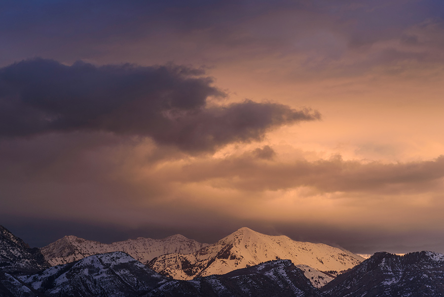 Clouds above the Mountains - 16 x 24 giclée on canvas (pre-mounted) by Tanner Young