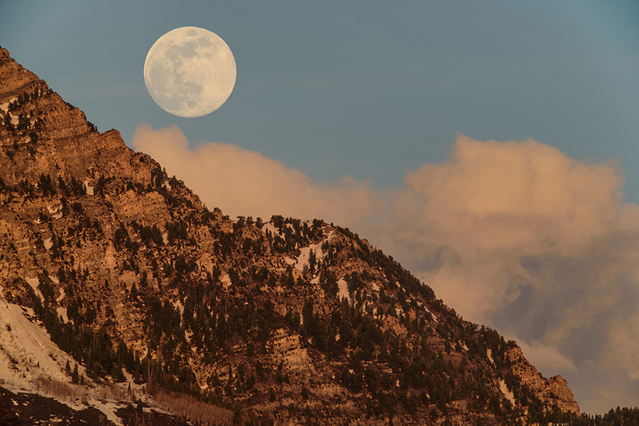 Alpine Moon - 24 x 36 giclée on canvas (unmounted) by Tanner Young