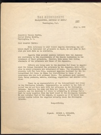 Letter from George J. Richards