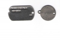 Warren Reece Stewart, Jr. WWII Dog tags