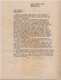 S. P. Young Letter - February 3, 1944