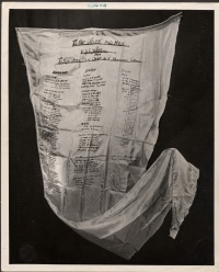 Airlift Parachute Panel with signatures of Kawasaki Camp 2B prisoners