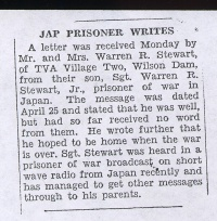 Newspaper Clipping: Japanese prisoner writes, no. 2