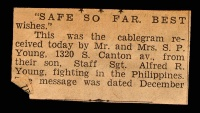 Newspaper Clipping: Safe so far