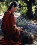 She Is Come Aforehand - Original oil painting
