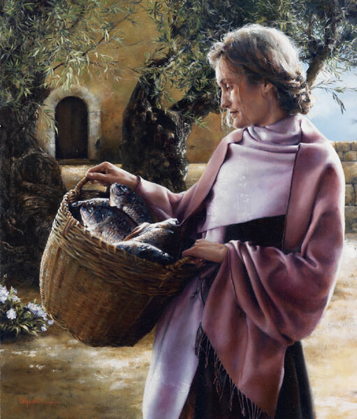 And Martha Served - Original oil painting by Elspeth Young