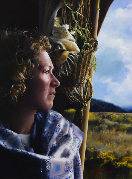The Struggle Within - Original oil painting by Elspeth Young