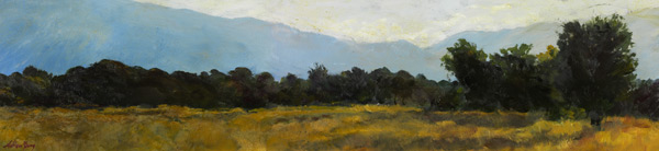 Far Away In The West - Original oil painting by Ashton Young