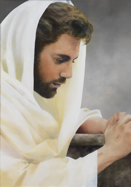 We Heard Him Pray For Us - Original oil painting by Al Young