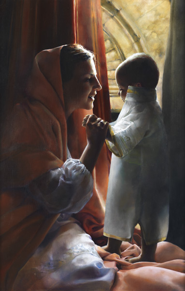 For This Child I Prayed - Original oil painting by Elspeth Young