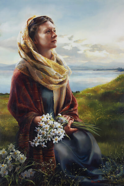 Consider The Lilies - Original oil painting by Elspeth Young