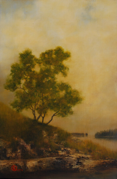Old Shannon - Original oil painting by Al Young