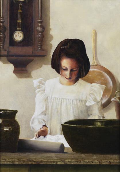 Sara Crewe - Original oil painting by Al Young