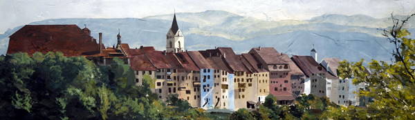 St. Gallen - Original oil painting by Ashton Young