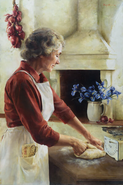 A Labor Of Love - Original oil painting by Elspeth Young