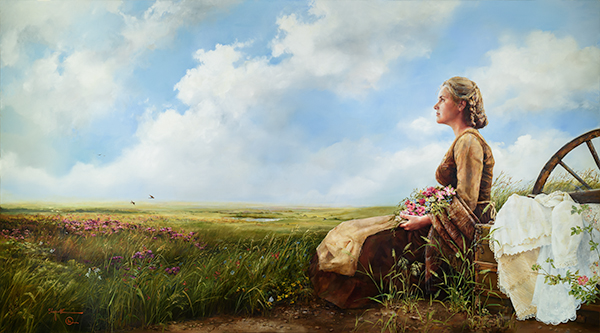 If God So Clothe The Field - Original oil painting by Elspeth Young
