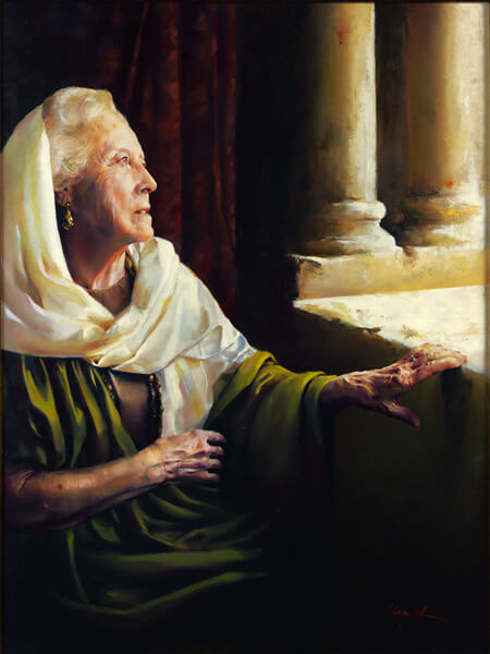 Blessed Is She That Believed - Original oil painting by Elspeth Young