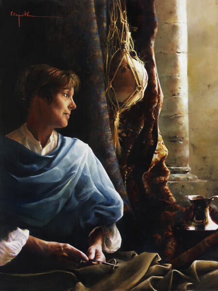 Forsaking All - Original oil painting by Elspeth Young