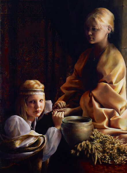 The Trial Of Faith - Original oil painting by Elspeth Young