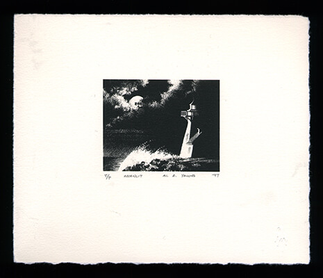 Moonlit - Limited Edition Lithography Print by Al Young