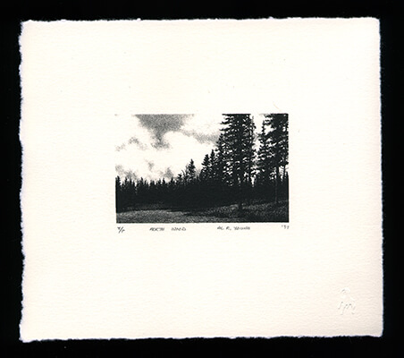 North Wood - Limited Edition Lithography Print by Al Young