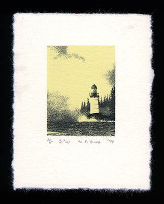 70° West - Limited Edition Lithography Print by Al Young
