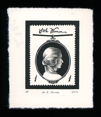 Louisa May Alcott 1 - Limited Edition Lithography Print by Al Young