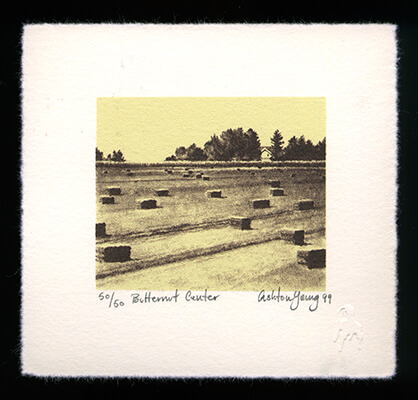 Butternut Center - Limited Edition Lithography Print by Ashton Young