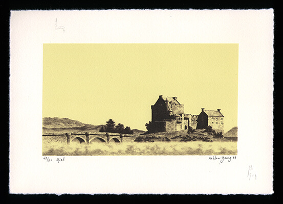 Mist - Limited Edition Lithography Print by Ashton Young