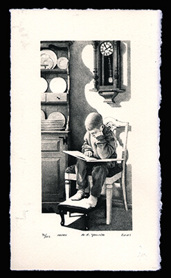 Haven - Limited Edition Lithography Print by Al Young
