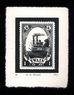 Mark Twain 1 - Limited Edition Lithography Print by Al Young