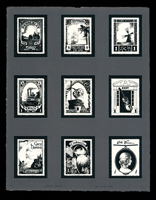 Stamp Page 1 - Limited Edition Lithography Print by Al Young