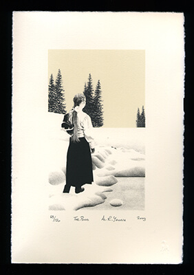 The Pond - Limited Edition Lithography Print by Al Young