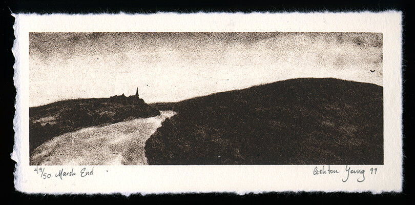 Marsh End - Limited Edition Lithography Print by Ashton Young
