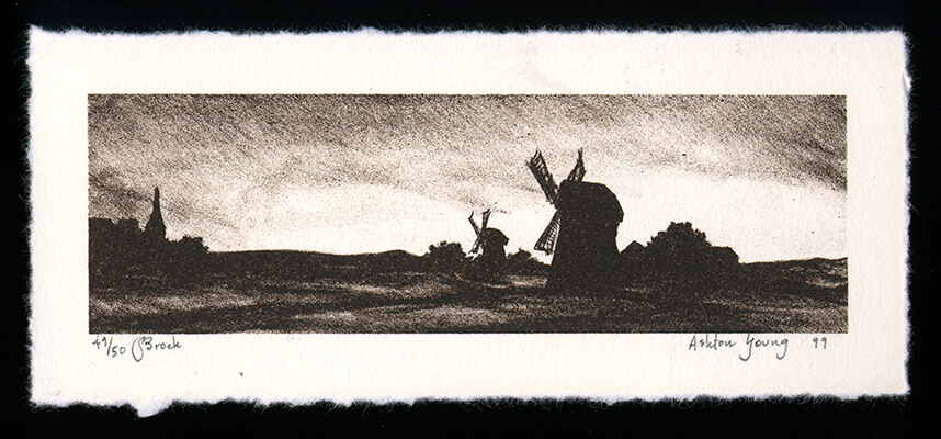 Broek - Limited Edition Lithography Print by Ashton Young