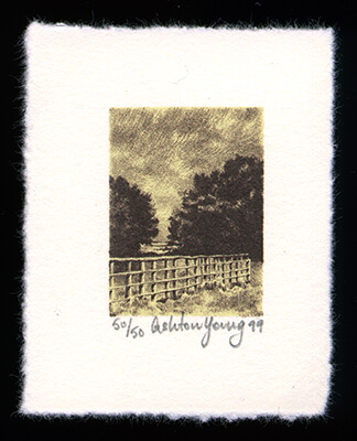Lock Willow - Limited Edition Lithography Print by Ashton Young